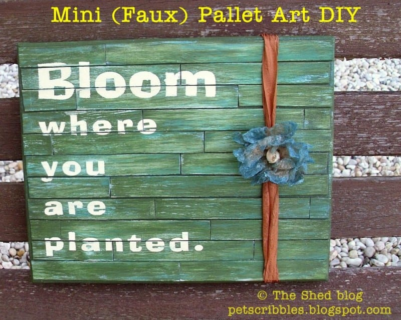 Mini Faux Pallet Art Tutorial