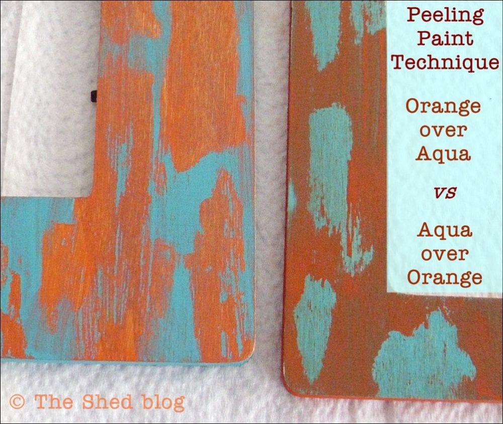 Peeling Paint DIY using petroleum jelly: a color comparison done two ways!