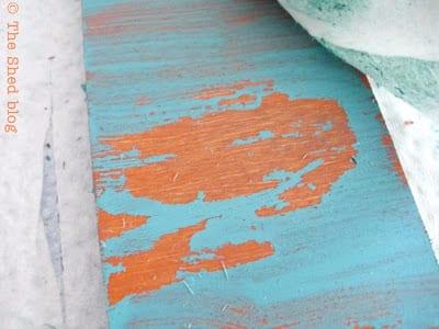 The Shed blog: Peeling Paint Technique Color Comparison
