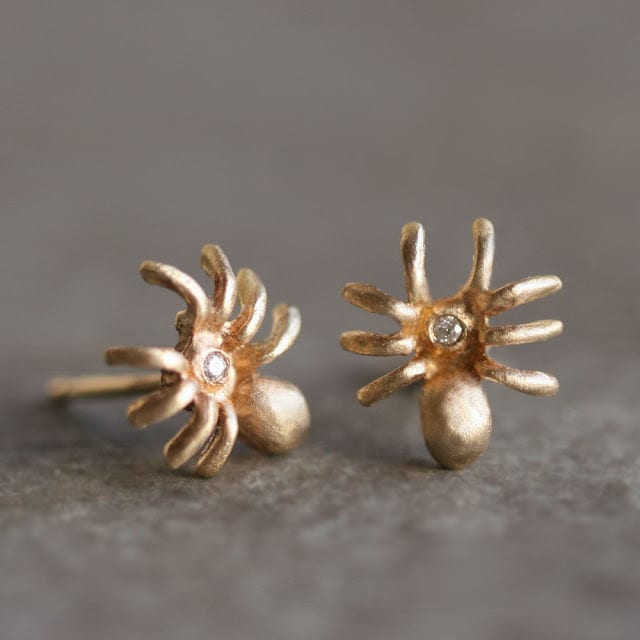 Spider Earrings Gold Michelle Chang Jewelry Etsy