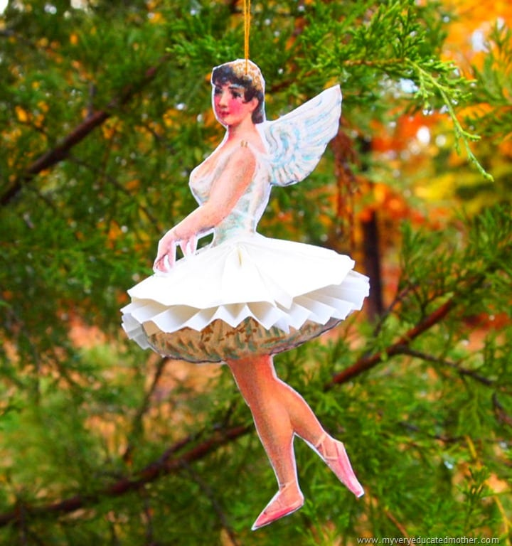 Ballerina Paper Doll Ornament