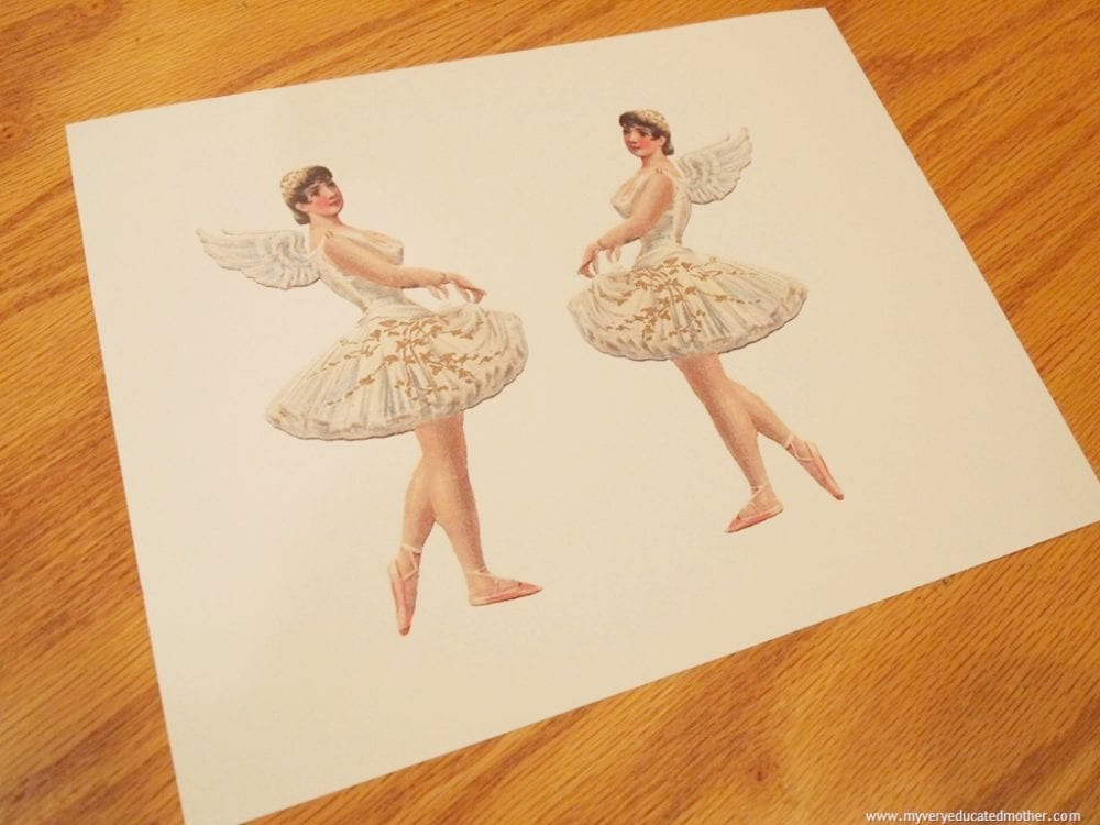 Vintage Ballerina Image from The Graphics Fairy