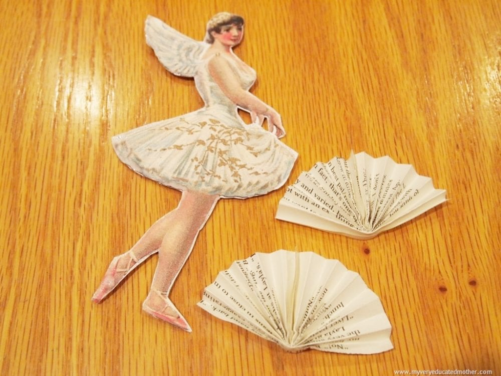 make a paper ballerina ornament