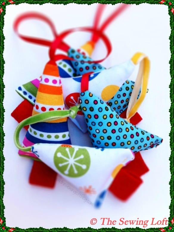 Mini Christmas Tree Ornaments to Sew!