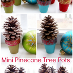 Pinecone Crafts: Mini Pinecone Tree Pots