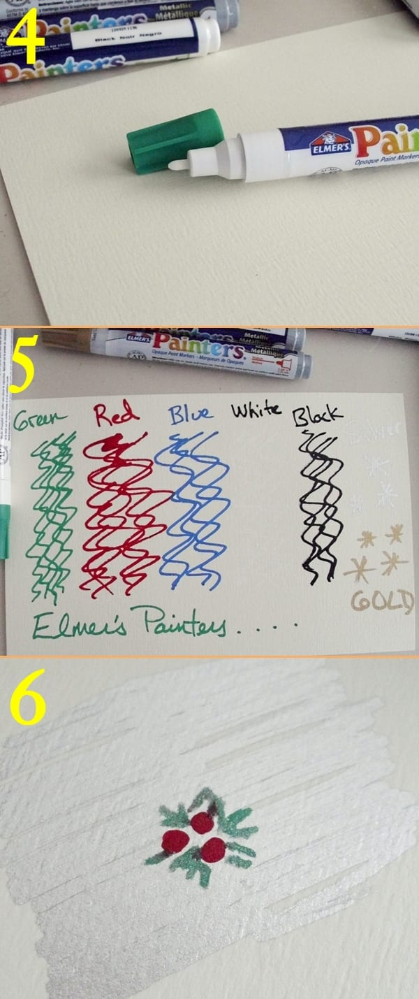Elmer's Painters Pens in opaque colors and metallic shades #GlueNGlitter