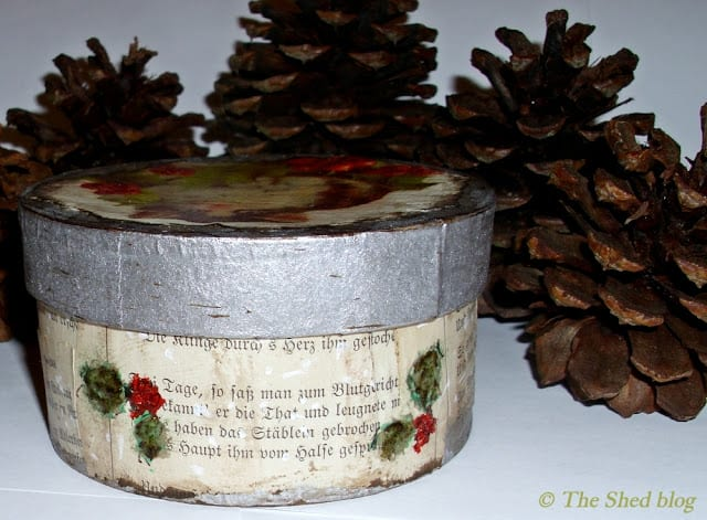 Vintage-Style Decoupage Box Tutorial | The Shed blog #GlueNGlitter