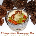 Vintage-Style Decoupage Box: Holiday Craft Tutorial