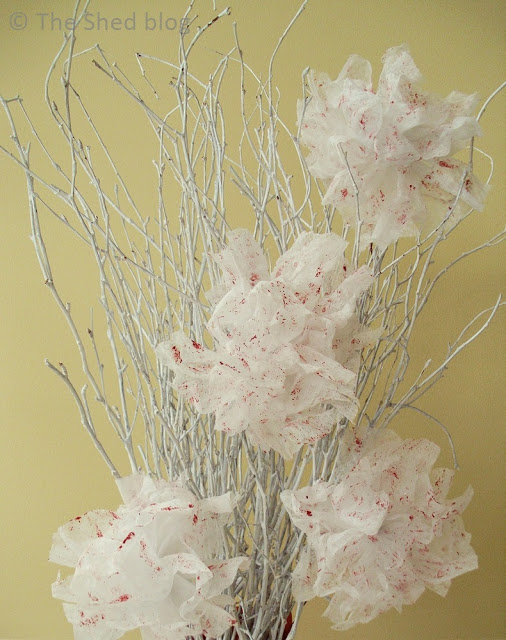 Valentine Dryer Sheet Flowers DIY | Pet Scribbles