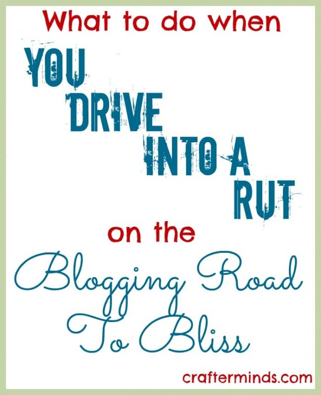 In a blogging rut? Me too! Learn the top tips I used from my fellow creative bloggers who got me back on track!