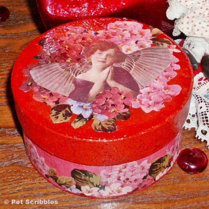 Mod Podge Valentine Box DIY with Sparkle Mod Podge | Pet Scribbles