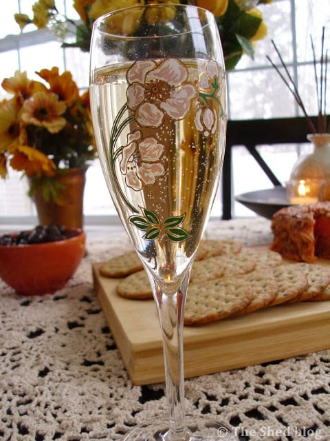 Champagne Table for Two using Moll Anderson's book Seductive Tables for Two