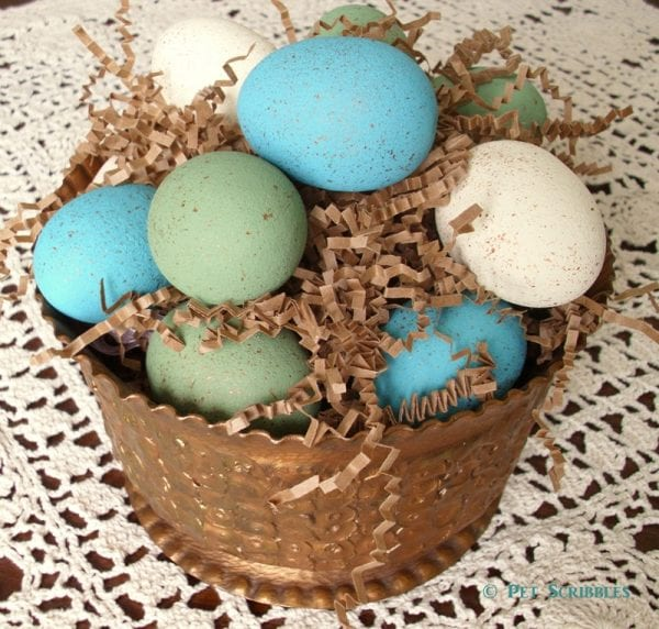 DIY Faux Bird Eggs for Spring