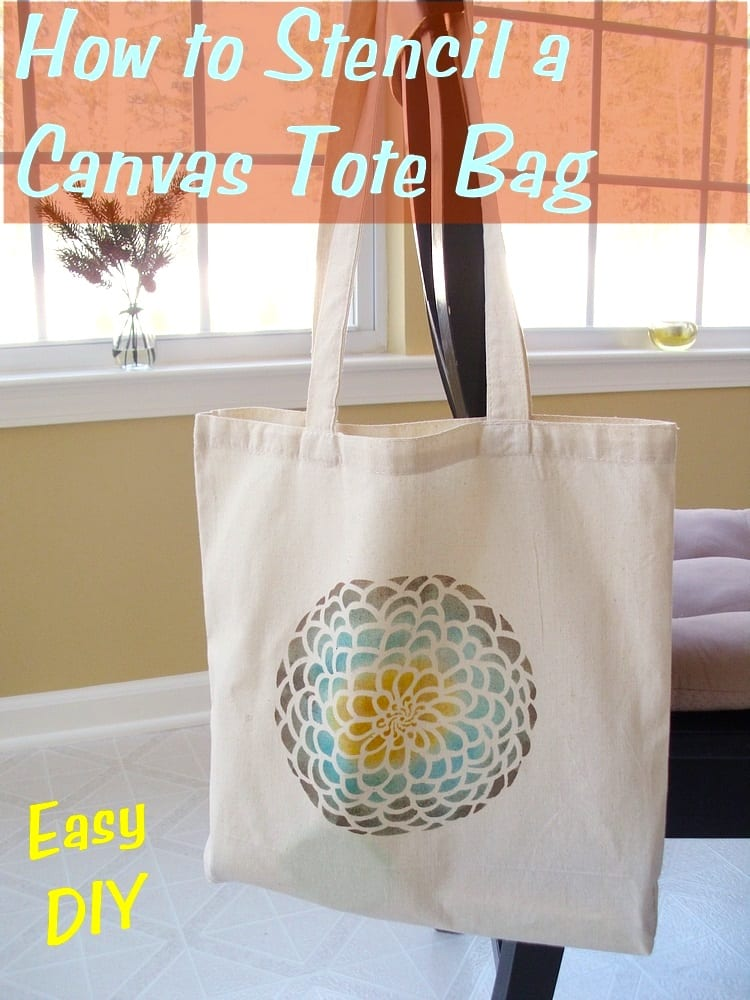 How to Stencil a Canvas Tote Bag