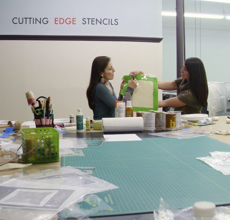 Janna and Michelle of Cutting Edge Stencils