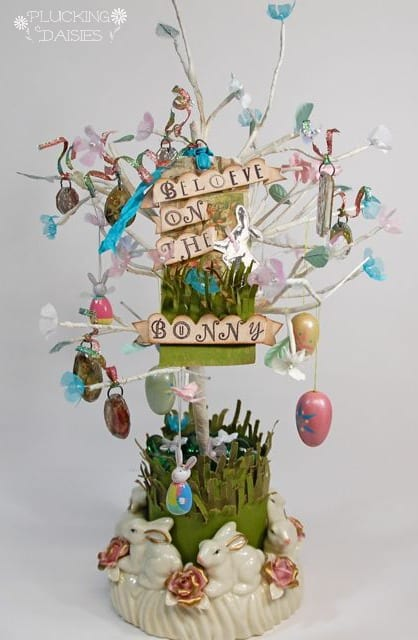 Easter Bunny Tree by Plucking Daisies