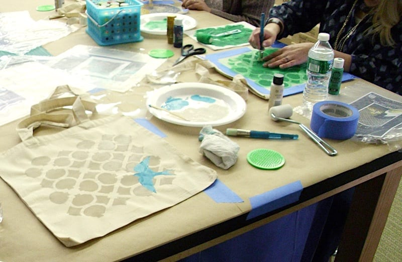 stenciling fun with Cutting Edge Stencils