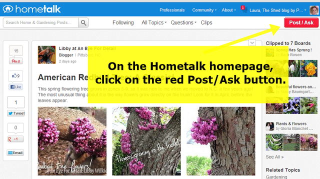 How to post/ask a question on Hometalk.com