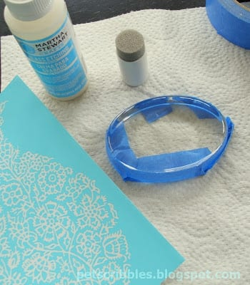 Martha Stewart Glass Etching Cream and Martha Stewart Adhesive Silkscreens