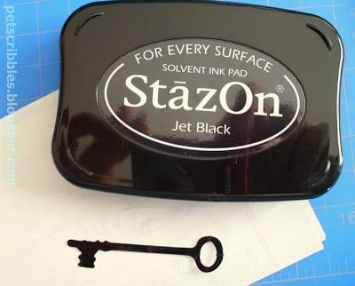 Using StazOn Ink on die cuts