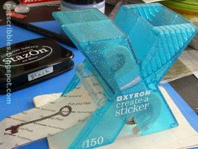 Use the Xyron 150 Create-a-Sticker to make your stickers!