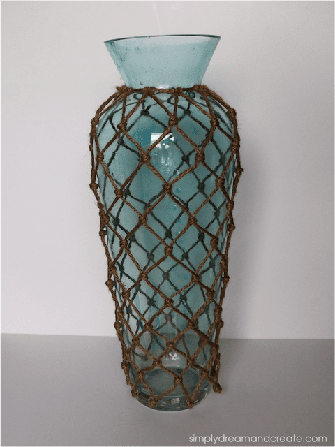 DIY Blue Tinted and Netted Vase | Simply Dream and Create