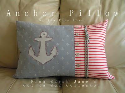 DIY Anchor Pillow | Tea Rose Home