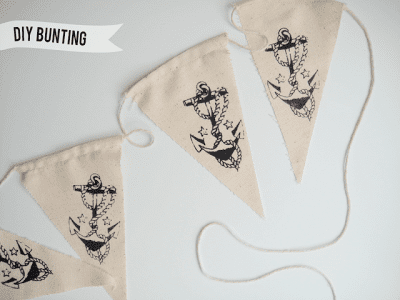 DIY Nautical Bunting | Hank and Hunt