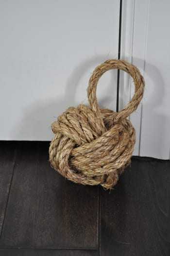 DIY Nautical Rope Doorstop | Bungalow Blue Interiors