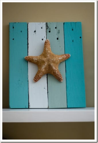 Starfish Art with Repurposed Pallets | Caught in Grace