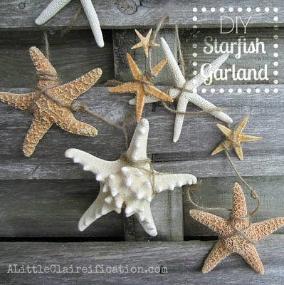 DIY Starfish Garland | A Little CLAIREification