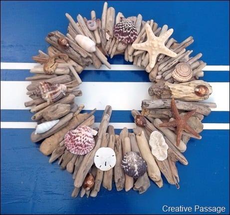 Driftwood and Seashell Wreath Tutorial | Creative Passage