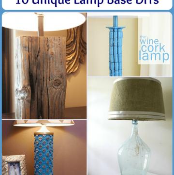 10 Unique Lamp Makeovers