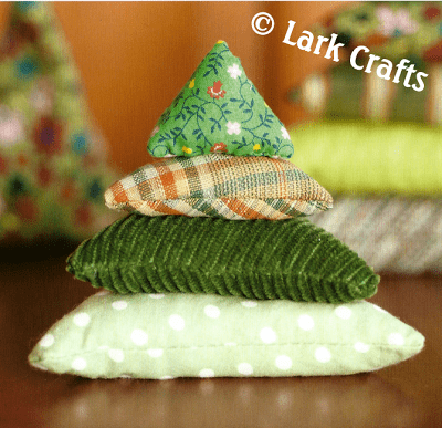 Soft Stacking Trees by Laura Wilson, from her book Flip Dolls and Other Toys