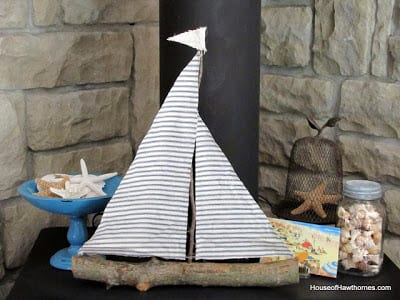 Branch and Twig Sailboat DIY | House of Hawthornes