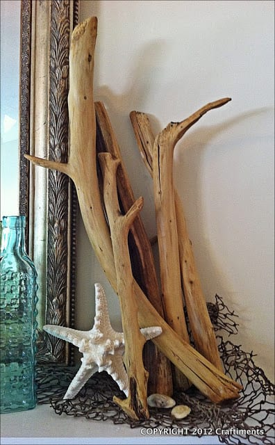 faux driftwood craft