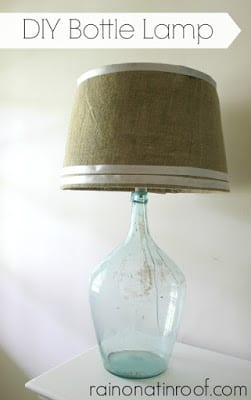 DIY Bottle Lamp using a vintage wine bottle | Rain on a Tin Roof