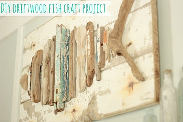 Driftwood Fish Art DIY | The Space Between