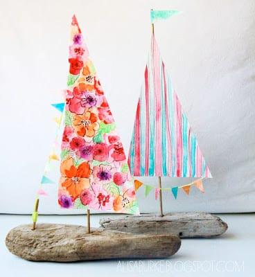 Driftwood Boats DIY | Alisa Burke