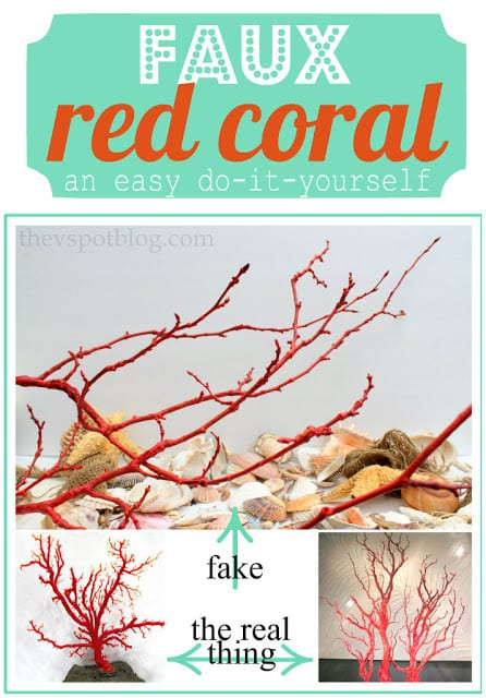 Easy way to make faux red coral | The V Spot