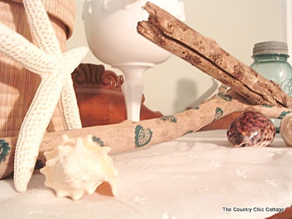 Stamped Driftwood DIY | The Country Chic Cottage