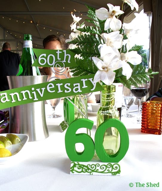 60th Anniversary decoration - DIY