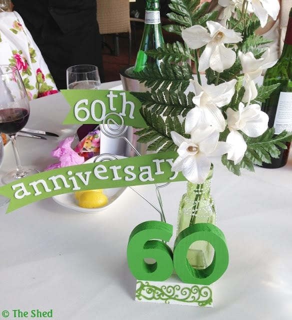 60th Anniversary - make a keepsake centerpiece!