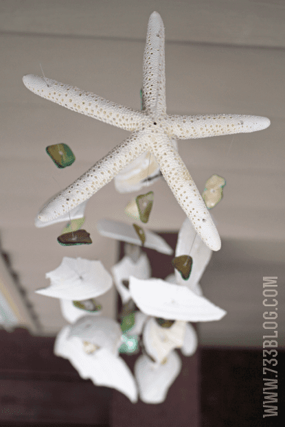 DIY Seashell Windchime | Seven Thirty Three