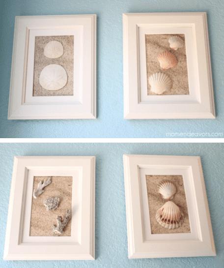 DIY Frame Shell Art | Mom Endeavors