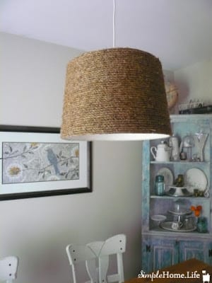 DIY Rope Lampshade | Simple Home Life