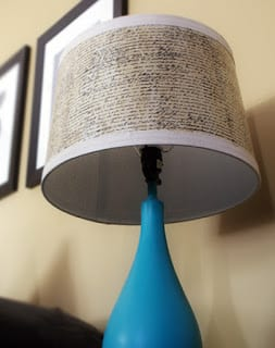 DIY Mod Podge and Graphic Tissue Lampshade | Saved By Love Creations