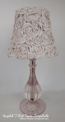 DIY T-Shirt Roses Lampshade | Tiffany Windsor for Cool2Craft