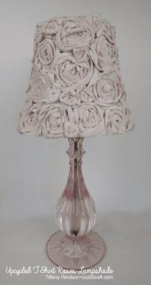 DIY T-Shirt Roses Lampshade | Tiffany Windsor for Cool2Craft