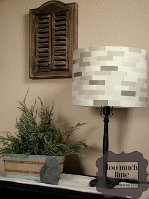 Paint Chip Lampshade | Too Much Time On My Hands
